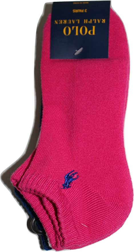 Ralph Lauren Polo Calcetines para Mujer, Pink White Blue: Amazon ...