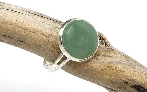 Aventurin Ring Silber Grun Verstellbarer Ring Aventurin Edelstein Silber Gruner Aventurin Ring Verstellbarer Aventurin Edelstein Ring Amazon De Handmade