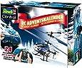 Revell Control 01015 - RC Adventskalender Hubschrauber, 24 Tage Bastelspaß, ferngesteuerter RC Helikopter für Einsteiger zum Selberbauen, 2,4 GHz Fernsteuerung mit stabilem Metall-Chassis, LED-Beleuchtung, USB-Ladegerät, Gyro