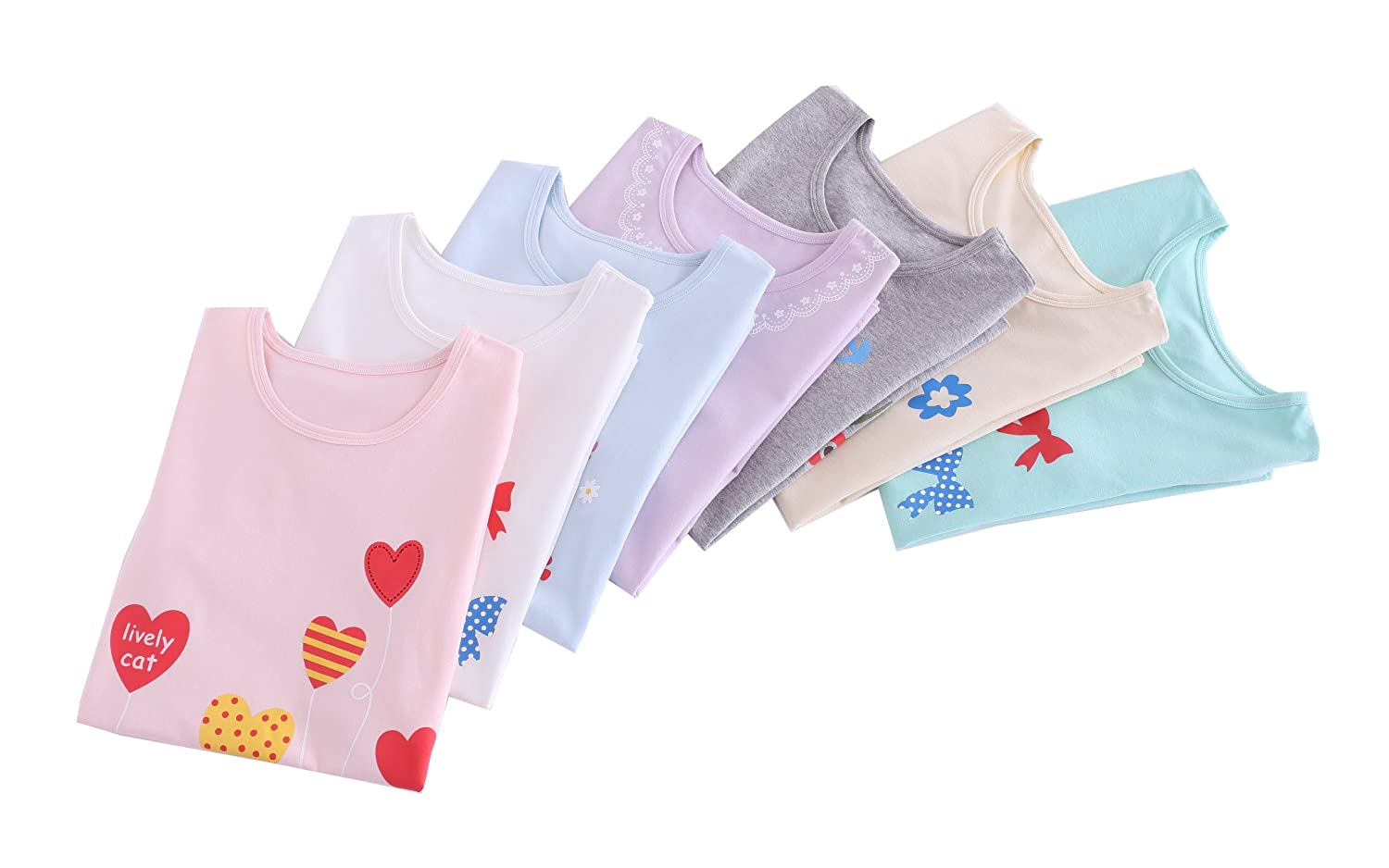 ABClothing Cotton Grils Nightgown Vary Colors 3-10 Years Old