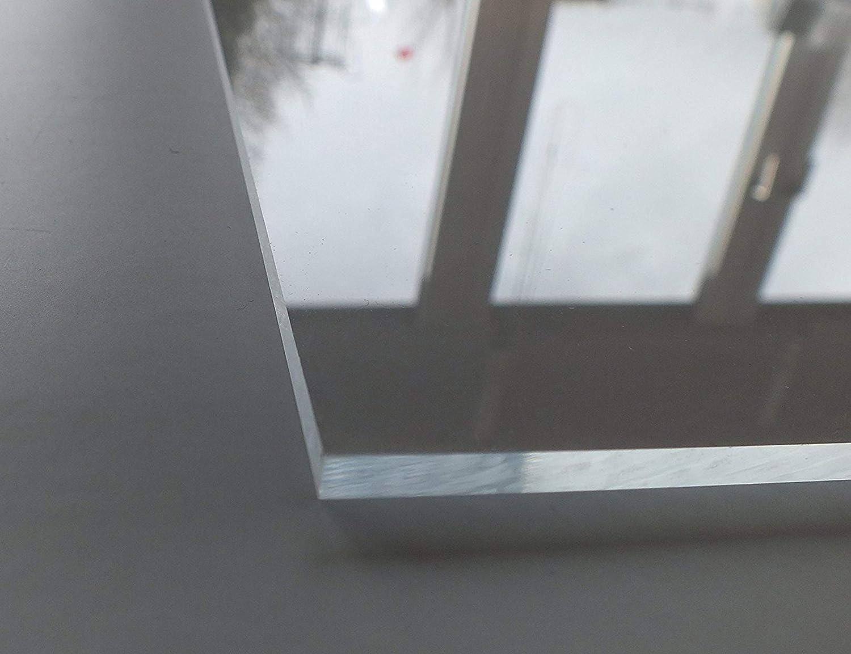 UV-best/ändig Wunschma/ß Zuschnitt bis Gr/ö/ße 25 x 50 cm 250 x 500 mm beidseitig foliert B/&T Metall Acrylglas PMMA XT Platte transparent 5,0 mm stark