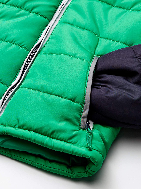 LONDON FOG Boys Big Color Blocked Puffer Jacket Coat with Hat