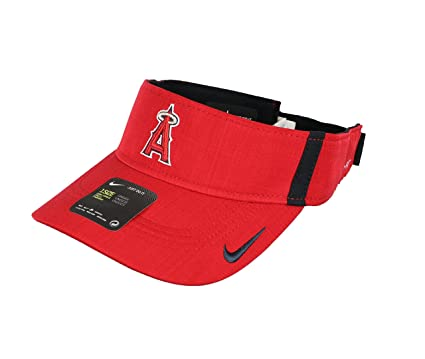 NIKE Men s Los Angeles Angels of Anaheim AeroBill Vapor Visor One Size Red 472b6e0f747