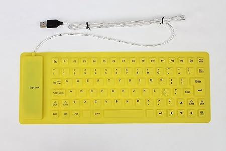 Flexible USB impermeable teclado de silicona para PC ...