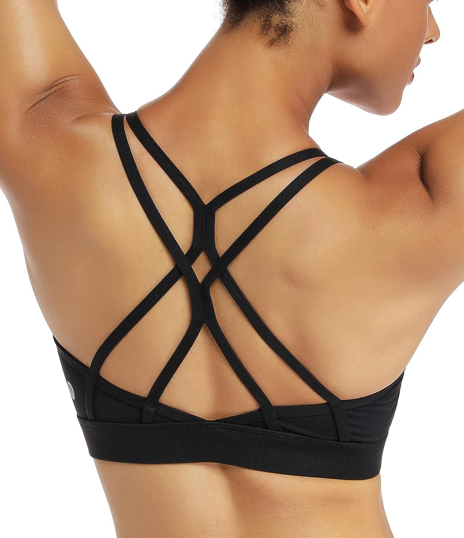 Details about  /Crisscross Bra Gym Fitness Sports Brassiere Women/'s Seamless Crop Top Underwear