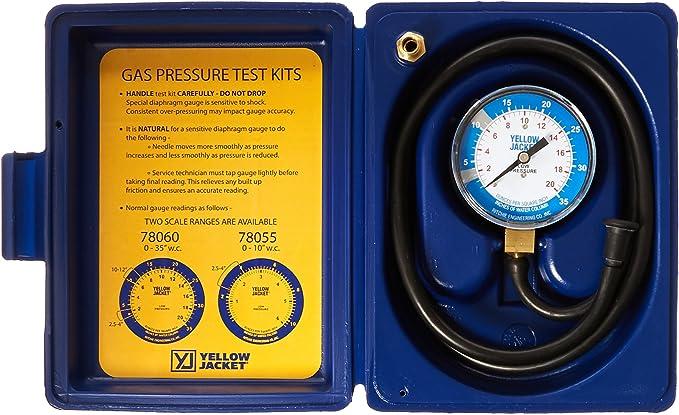 "Amazon.com: Yellow Jacket 78060 Complete Test Kit, 0-35"" W.C: Industrial & Scientific"