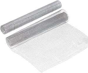 Activists 2 Sheets 1/4 Inch Wire Metal Mesh Chicken Wire Net 13.7 x 40 Inches Hardware Cloth Galvanized Welded Wire Metal Mesh for Craft Projects and Garden