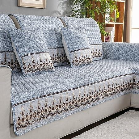 YHviking Funda de sofá,Cubrecama Antideslizante sofá,Funda Cubre sofá Asiento Algodón Lino Tela Caso del sofá para Diferentes Sistema del sofá de la Sala 1 Pieza-B 70x70cm(28x28inch): Amazon.es: Hogar