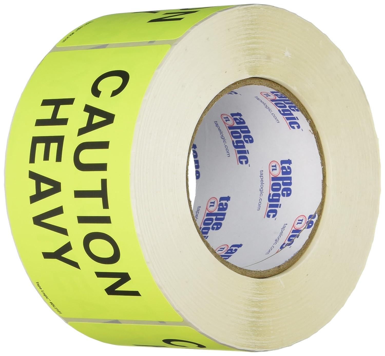 Generic DL2101Caution 3 x 5 Fluorescent Yellow Heavy Labels