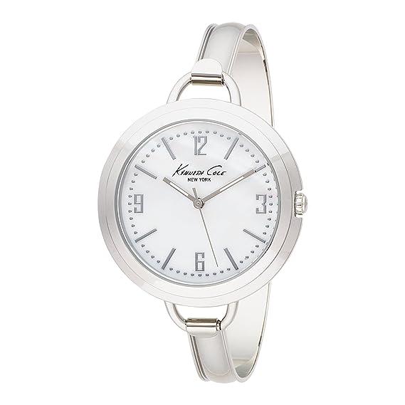 Kenneth Cole KC4682 - Reloj de mujer de cuarzo, correa de acero inoxidable color plata