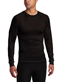 Terramar S481-0102XL Men's Thermasilk Filament Crew, Black, 2X-Large