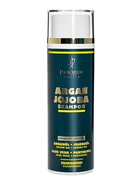 Dr. Schedu Berlin Champú de Argán y Jojoba 200 ml, para cabello seco y rizado, contiene Aceite de Argán, Aceite de Jojoba, Aloe Vera, Pantenol, sin ...