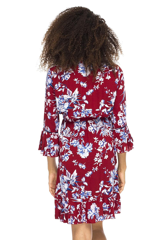 6a50b1786b2 Back From Bali Womens Boho Fall Dress Short
