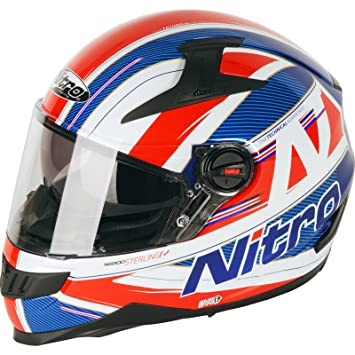 187217XXL82 - Nitro N2200 Sterling DVS Motorcycle Helmet XXL Blue White Red (82)