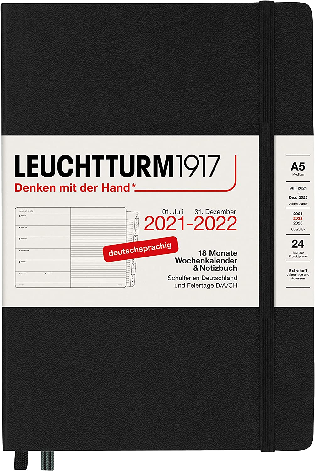 LEUCHTTURM1917 363647 Weekly Calendar Hardcove Louisville-Jefferson County Mall and Recommendation 2022 Notebook