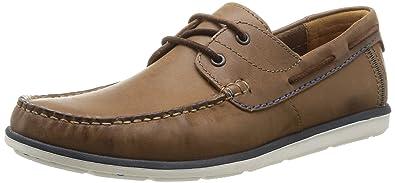 90a2030f96 Clarks Herren Kelan Step Bootsschuhe, Braun (Tobacco Leather), 40 EU ...