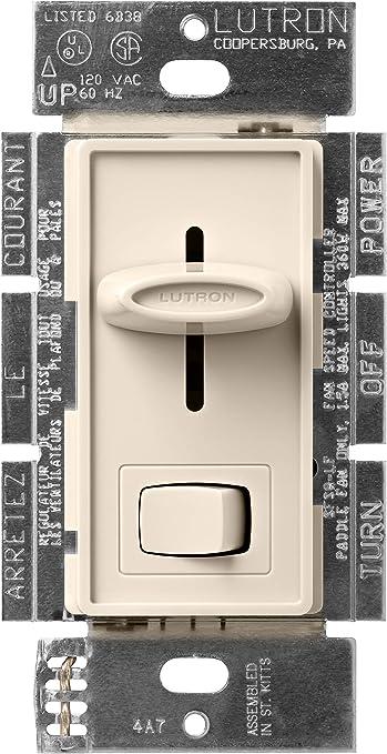 Lutron SFSQ-LF-LA Skylark 1.5 Amp Single-Pole 3-Speed Slide-to-off Fan and  Light Control, Light Almond - Ceiling Fan Wall Controls - Amazon.comAmazon.com