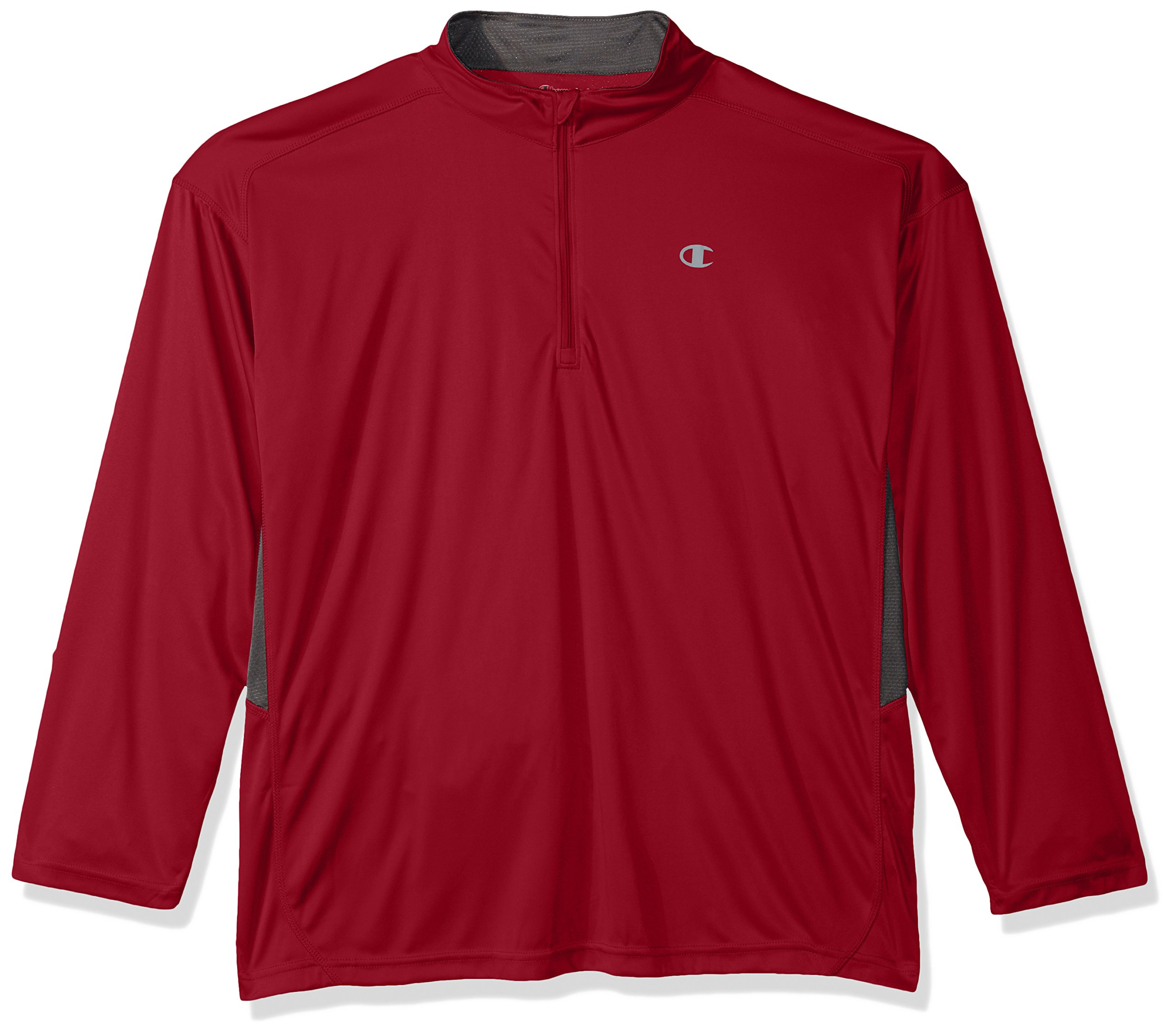 Champion Men's Big and Tall 1/4 Zip Pullover with Lc c, Card red/Stealth, 2X by Champion