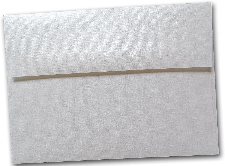 Classic Linen White Pearl A1 RSVP Envelopes 25 Pk