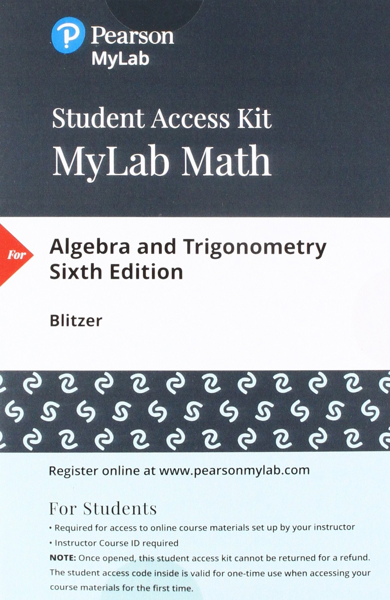 Algebra and Trigonometry, Books A La Carte Edition Plus MyLab Math with  eText -- Access Card Package (6th Edition) - Livros na Amazon Brasil-  9780134765495