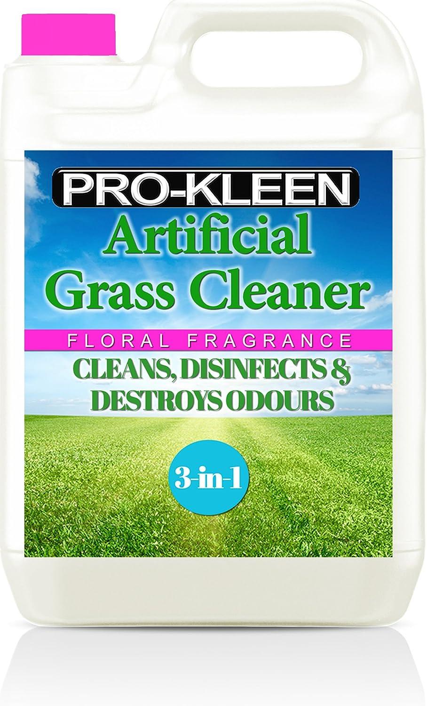 5litres Pro-kleen Gazon artificiel Nettoyant désinfectant Parfum floral + Désodorisant 5LFCGDEO