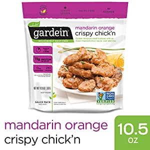 Gardein Mandarin Orange Chick'n, Meatless Protein Dish, Ready in 8 Minutes, Contains Sauce Packet, 10.5 Ounces (Frozen)