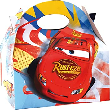 ALMACENESADAN 0658, Pack 4 cajitas de Carton para chuches Disney Cars, para Fiestas y cumpleaños: Amazon.es: Juguetes y juegos