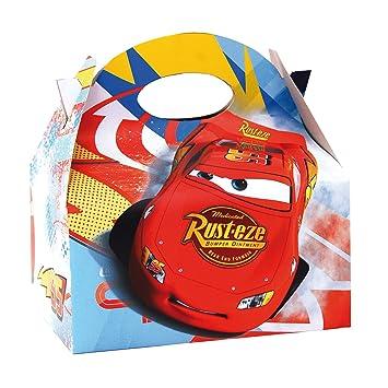 ALMACENESADAN 0658, Pack 4 cajitas de Carton para chuches Disney Cars, para Fiestas y cumpleaños