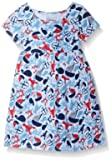Flap Happy Girls' Baby Classic Tee Dress, Lobster