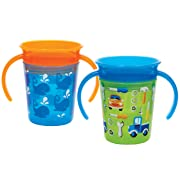 Munchkin Miracle 360 Trainer Cup, Blue/Green, 2 Count