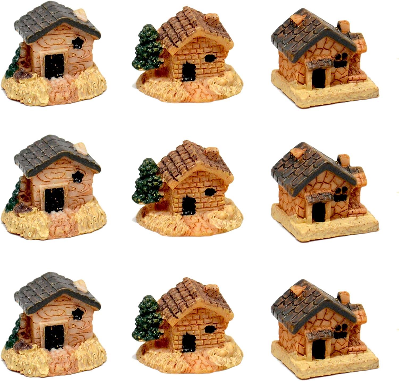 Pixie Glare Fairy Garden Micro House Village Stone Miniature House (Multicolor)