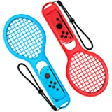 Raqueta de Tenis Joy Con para Nintendo Switch - Younik Raqueta de Tenis joy-con para Nintendo Switch perfecto para juegos somatosensoriales como Mario Tennis Aces (2 paquetes)