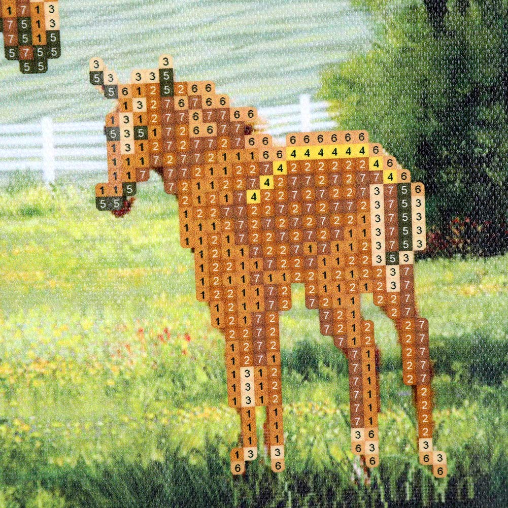 DIY 5D Diamond Painting Kits 5D Horse Animal Embroidery Paintings Rhinestone Pasted DIY Diamond Painting Cross Stitch Home Decals