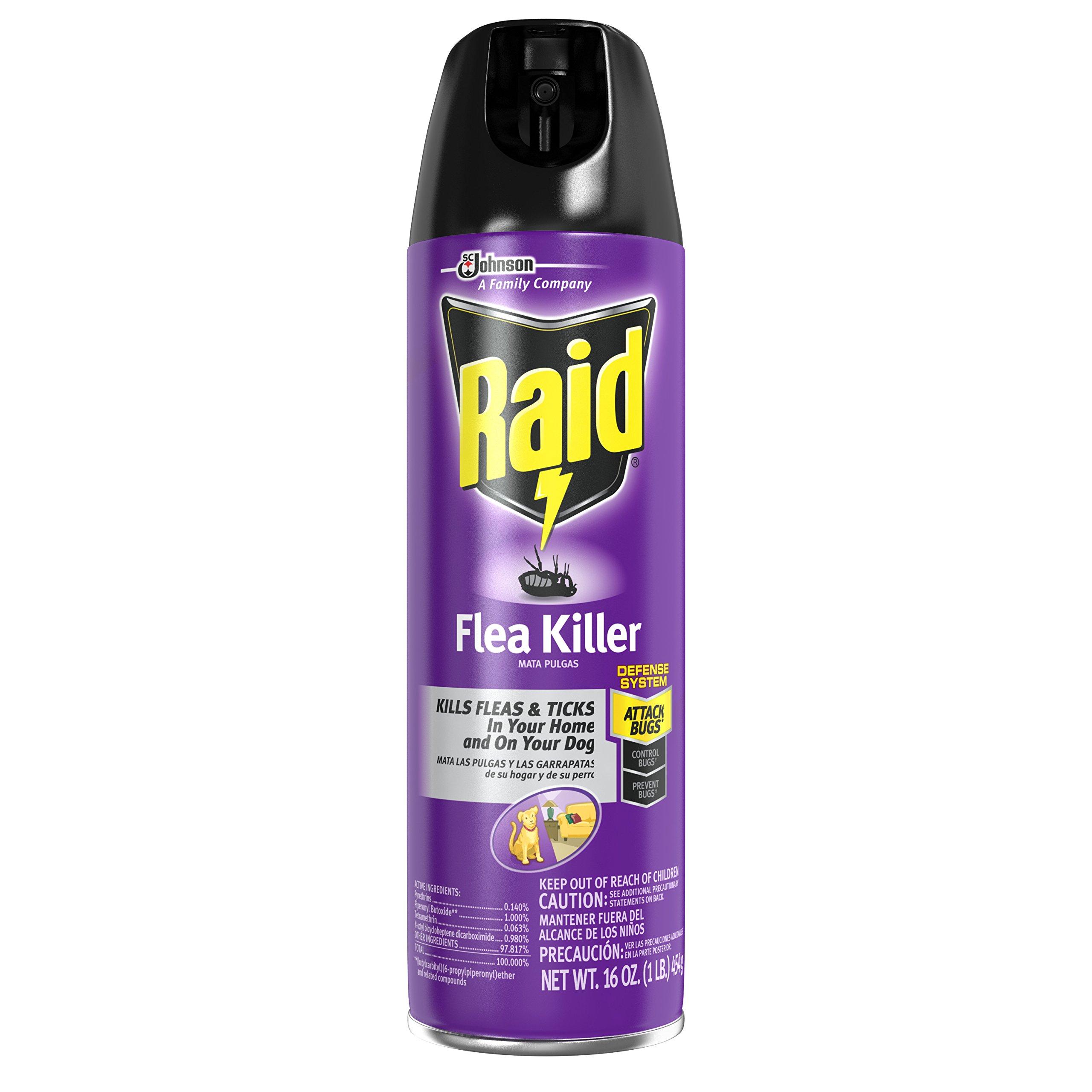 Raid Flea Killer for Home and Dogs, 16 Ounce, 6 Pack