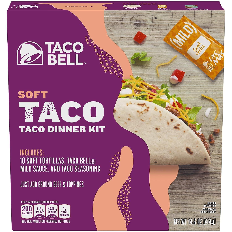 Taco Bell Soft Tortillas Taco Dinner Kit (14.6 oz Box)