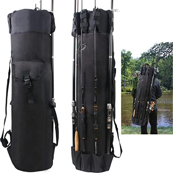Details about  /Portable Fishing Rod Carrier Oxford Cloth Pole Tool Storage Gear Tackle Bag Case