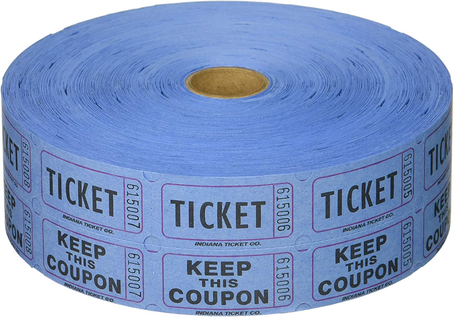 Raffle Tickets 5-Rolls 2000 Double Stub 50//50 Keep This Coupon Rainbow Colors