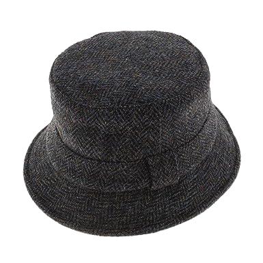 6bb961590ce Failsworth Harris Tweed grouse Hat 2012 Grey Blue Herringbone (S) at Amazon  Men s Clothing store