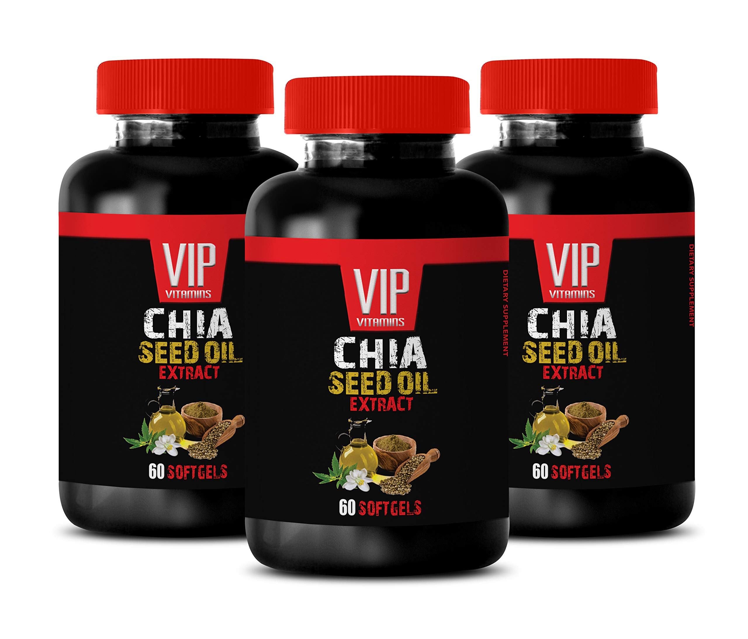 Brain Vitamins - CHIA Seed Oil Extract Complex - chia Seed Oil Pills - 3 Bottles (180 Softgels)