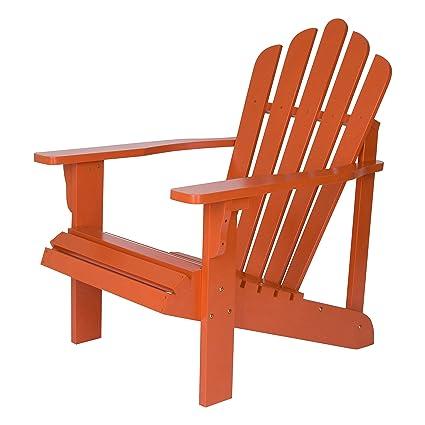 Ordinaire Shine Company Westport Adirondack Chair, Rust