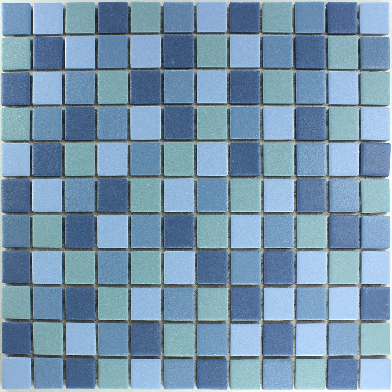 Keramik Mosaik Rutschhemmend Blau Mix Mosaikfliesen