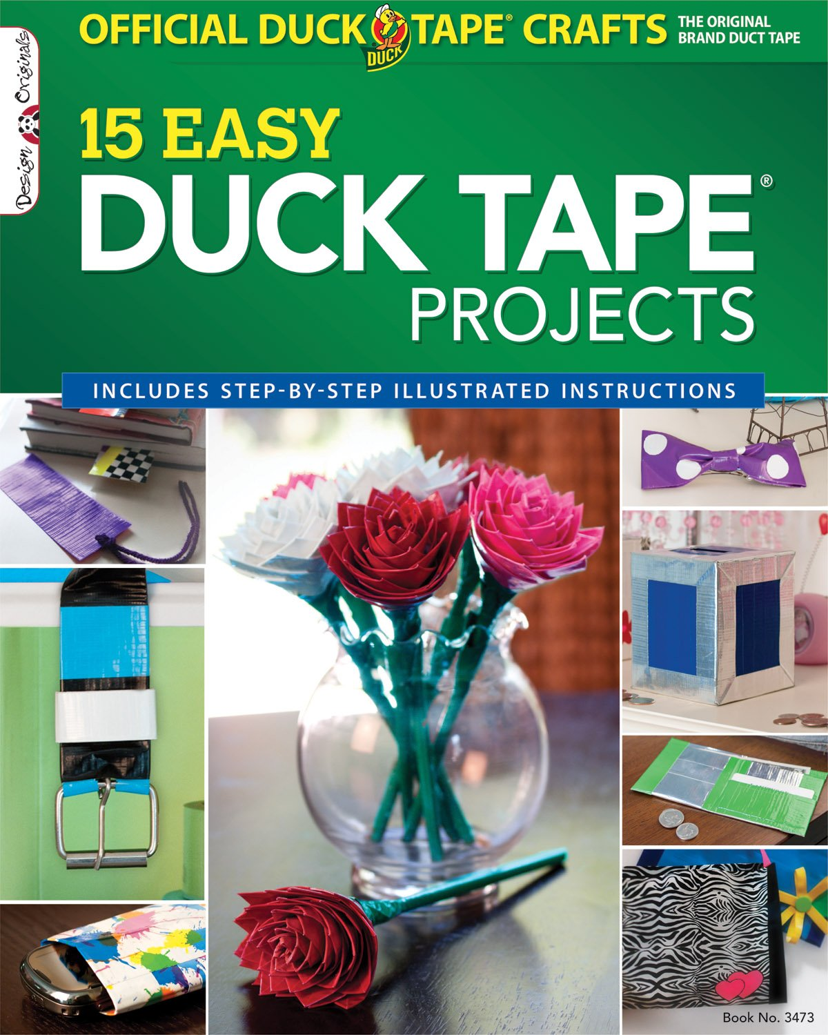 Galleon official duck tape craft book 15 easy duck tape for Duck tape craft book