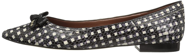 Cole Haan Women's Alice Flat Bow Skimmer Pointed Toe Flat Alice B01ITEJMH0 10 B(M) US Black/White Grid Print 148223