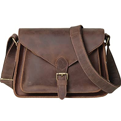 b1b2bdeabf7 Jack Chris Genuine Leather Cross Body Handbag Satchel Shoulder Bag  Structure Purse for Women,MC507 (