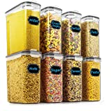 Cereal & Dry Food Storage Containers - Wildone Airtight Cereal Storage Containers Set of 8 [2.5L / 85.4oz] for Sugar…