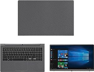 "Decalrus - Protective Decal for LG Gram 15Z970 (15.6"" Screen) Laptop Grey Carbon Fiber Skin case Cover wrap CFlgGram_15Z970Grey"