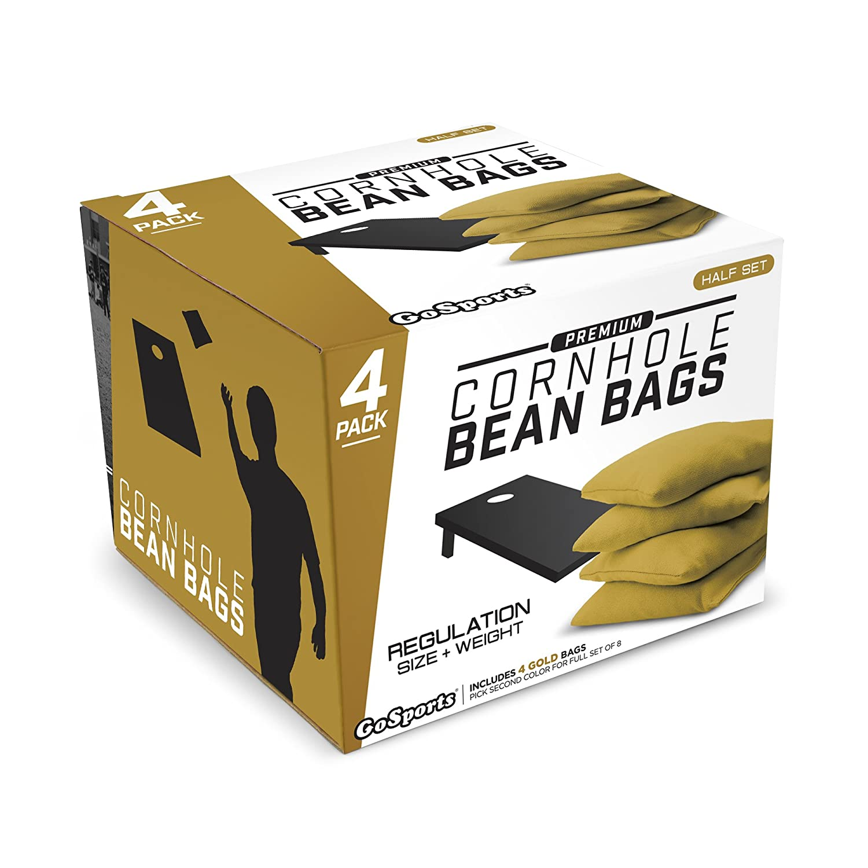 4 Set Gold GoSports Premium Bean Bag