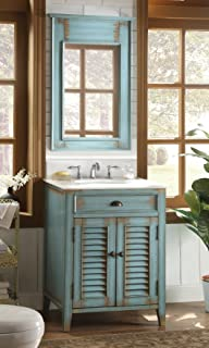26u201d Cottage Look Abbeville Bathroom Sink Vanity With Mirror CF 28883 MR28883