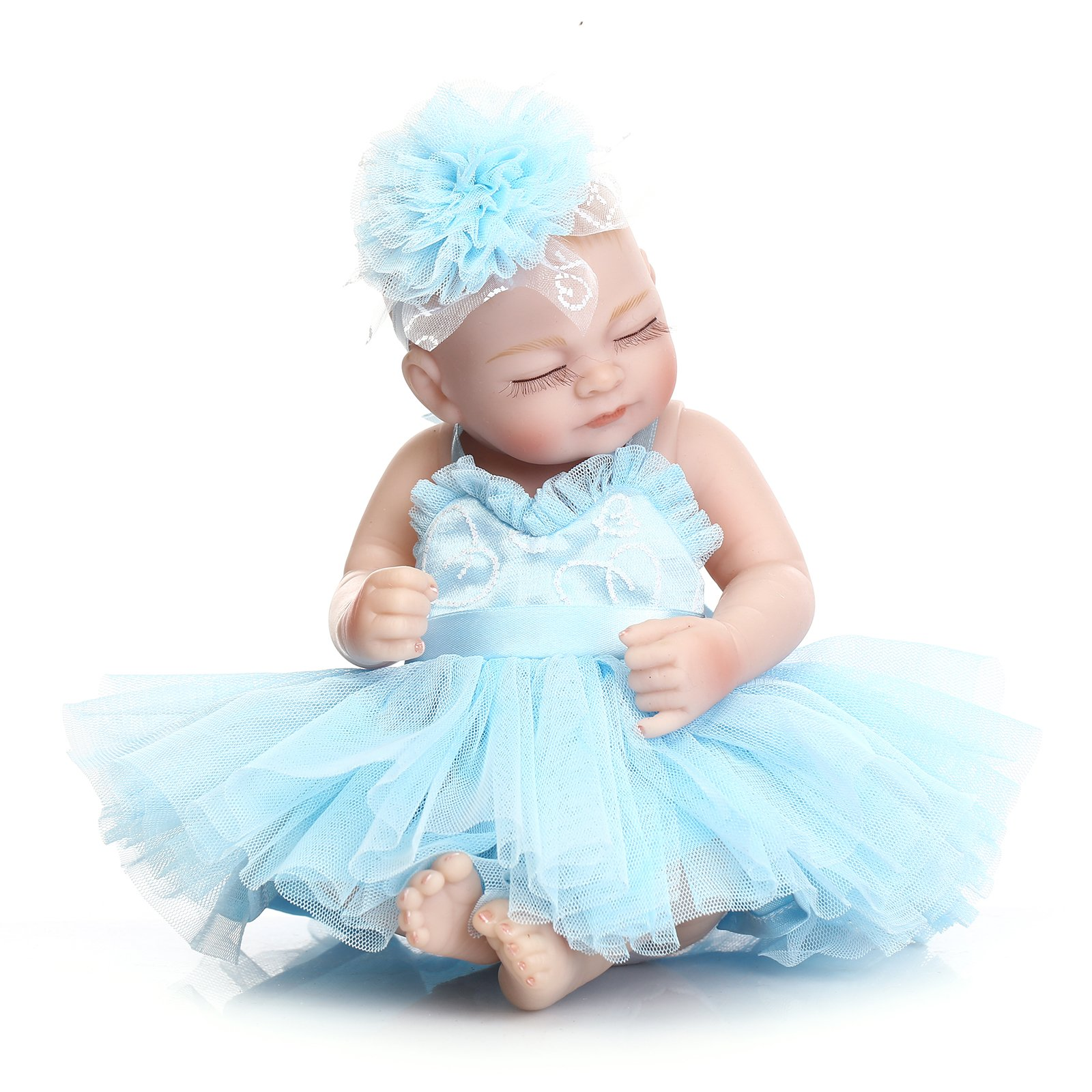 Icradle Lovely Reborn Baby Doll Soft Vinyl Silicone Full