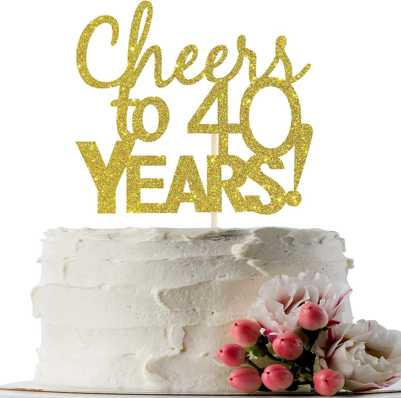 70 Cuarenton 40ton chimbita cake topper 80 90 60 50 40 Birthday Celebration Party 30